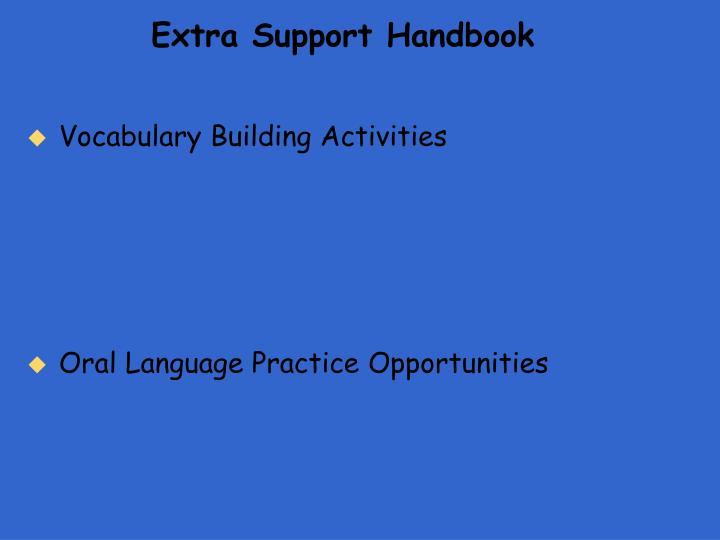 Extra Support Handbook