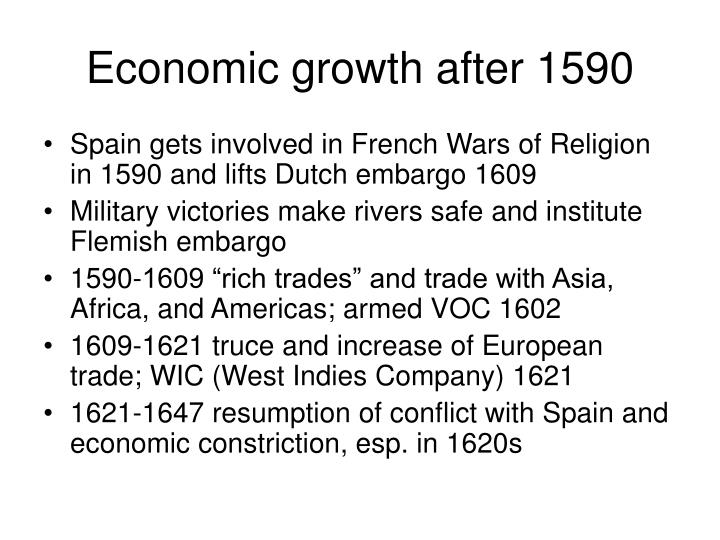 Economic growth after 1590