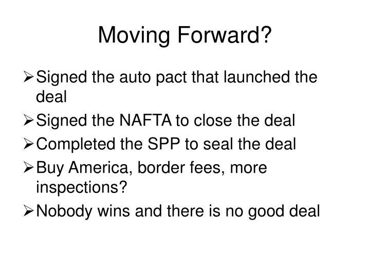 Moving Forward?