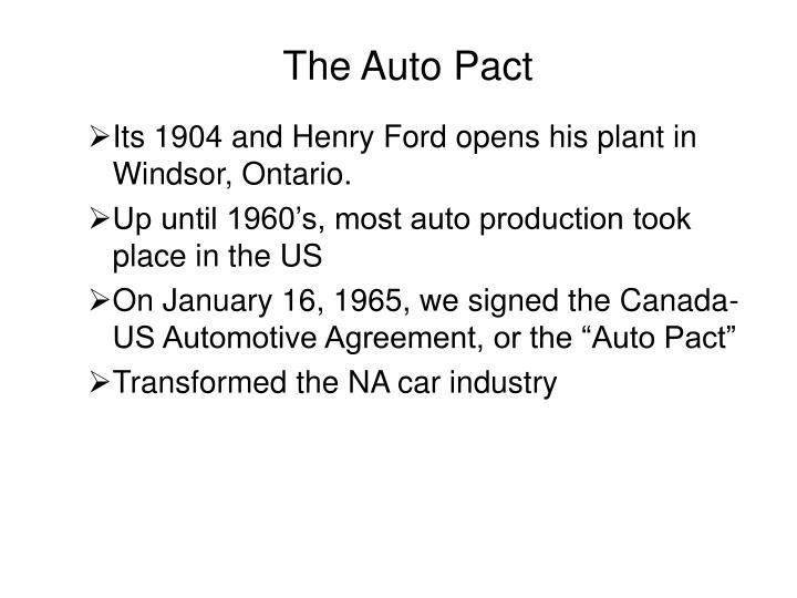 The auto pact