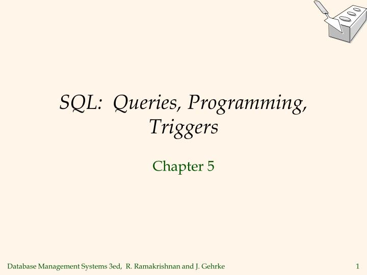 sql queries programming triggers n.