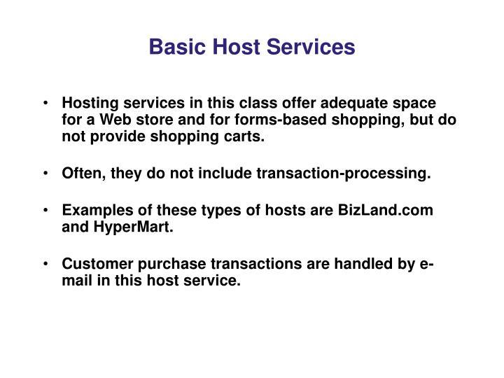 Basic Host Services