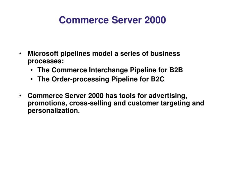 Commerce Server 2000