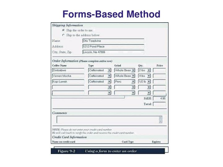 Forms-Based Method