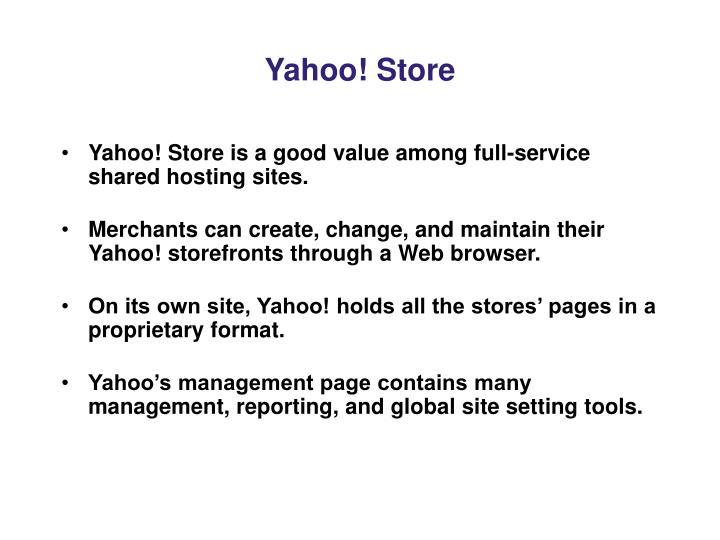 Yahoo! Store