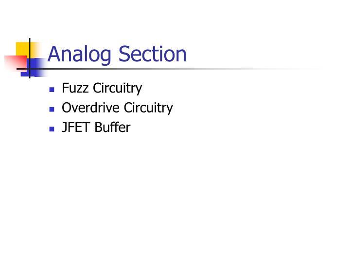 Analog Section