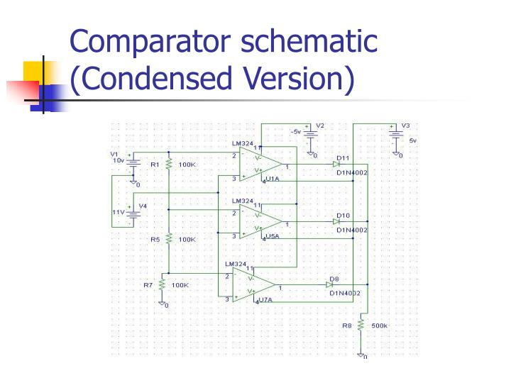 Comparator schematic (Condensed Version)