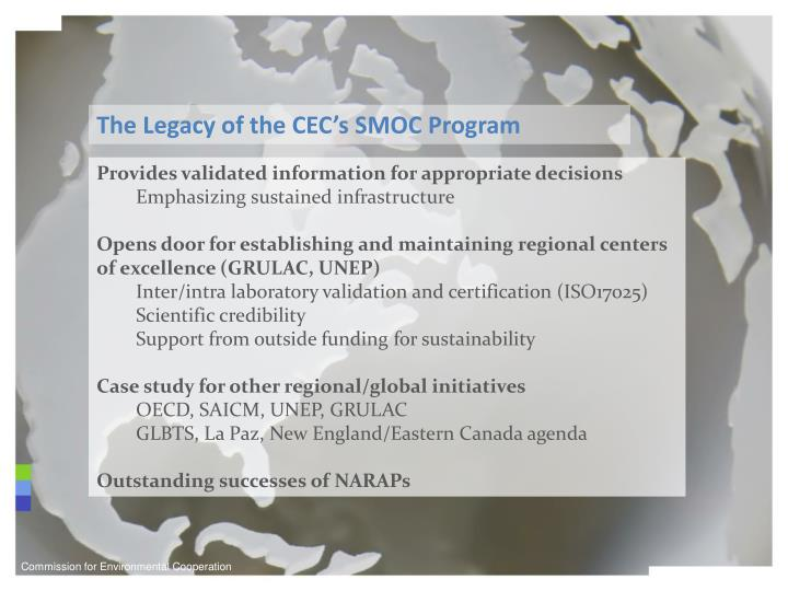 The Legacy of the CEC's SMOC Program