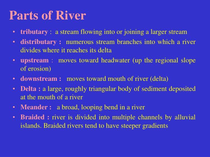 Parts of River