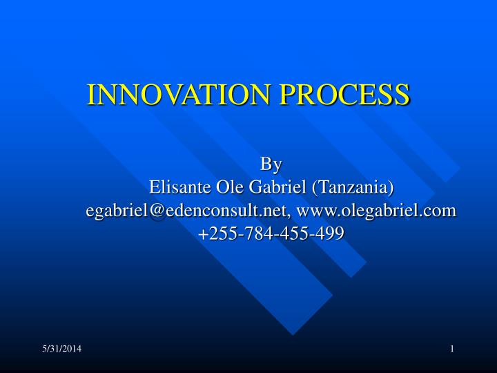 innovation process n.