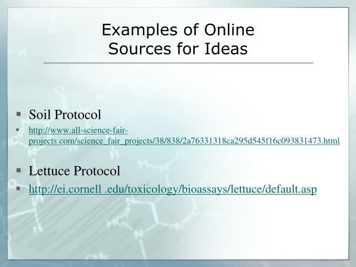 Examples of Online