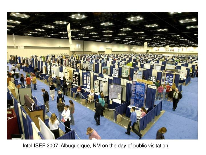 Intel ISEF 2007, Albuquerque, NM on the day of public visitation
