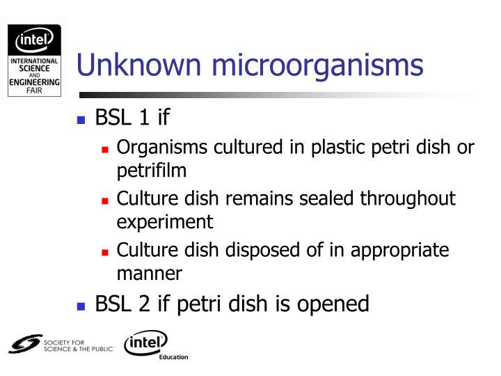 Unknown microorganisms