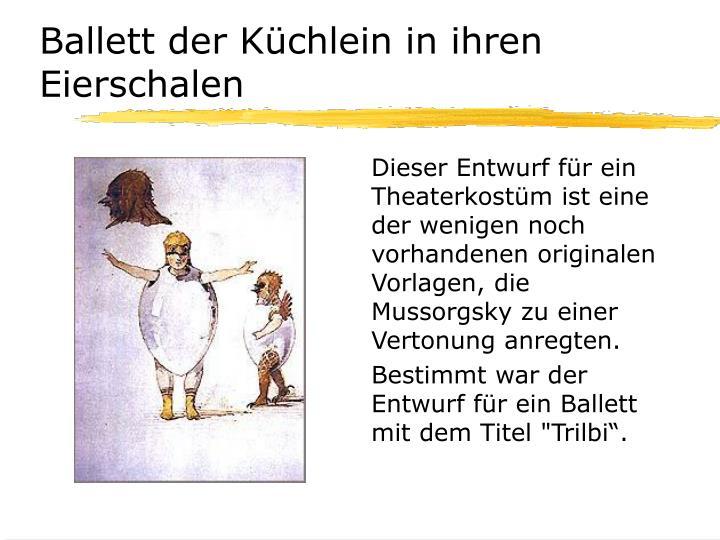 Ballett der Küchlein in ihren Eierschalen