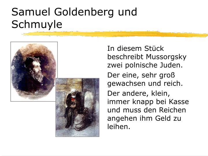 Samuel Goldenberg und Schmuyle