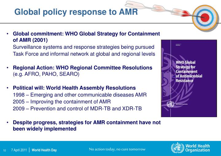 Global policy response to AMR