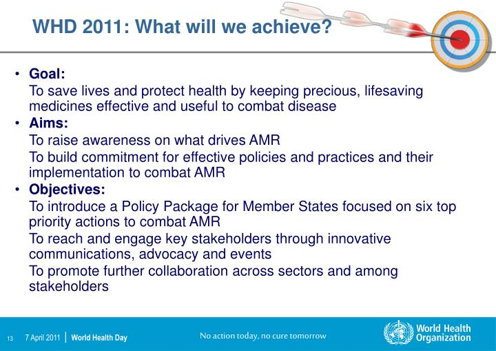 WHD 2011: What will we achieve?