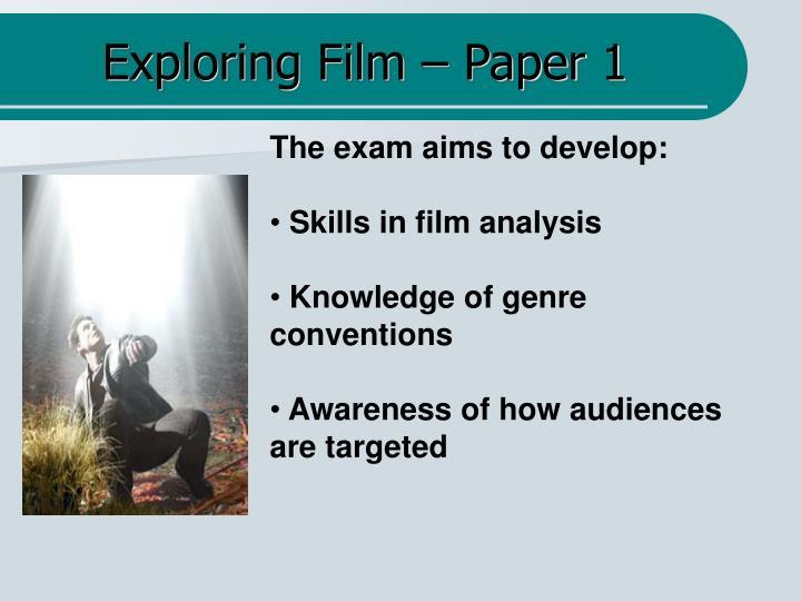 Exploring film paper 1