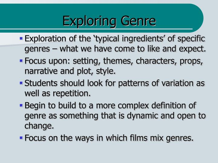 Exploring Genre