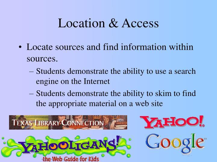 Location & Access