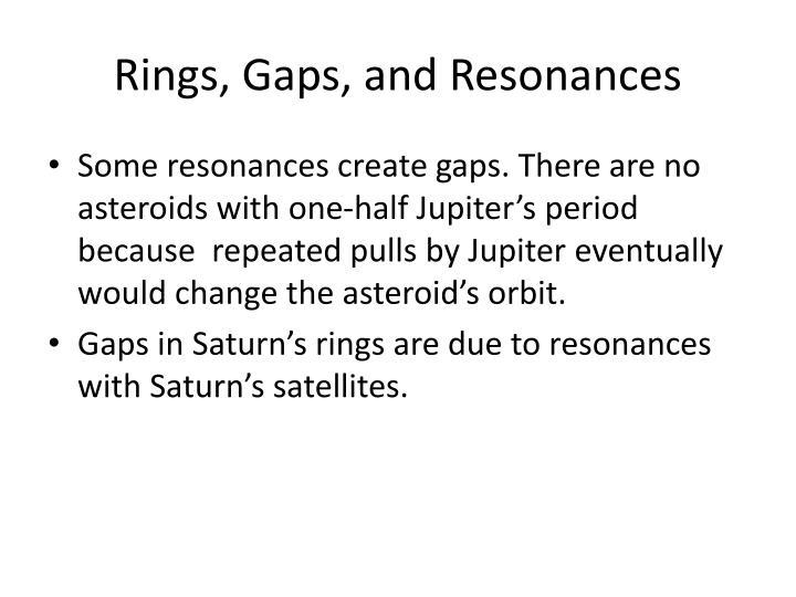 Rings, Gaps, and Resonances