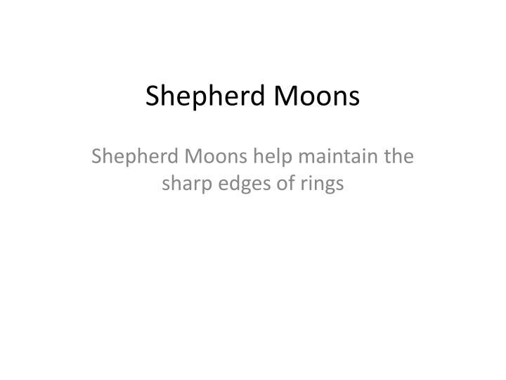Shepherd Moons