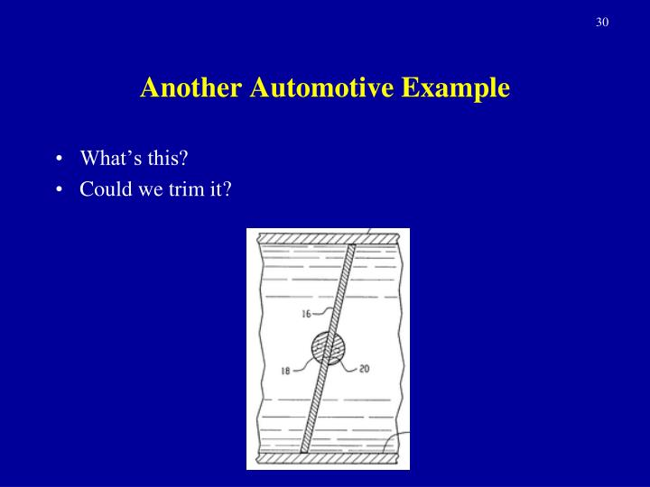 Another Automotive Example