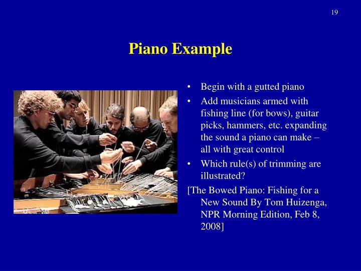 Piano Example