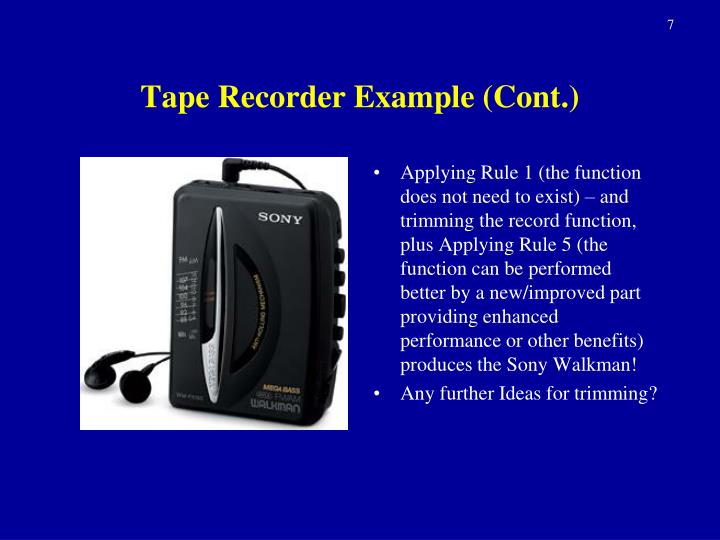 Tape Recorder Example (Cont.)