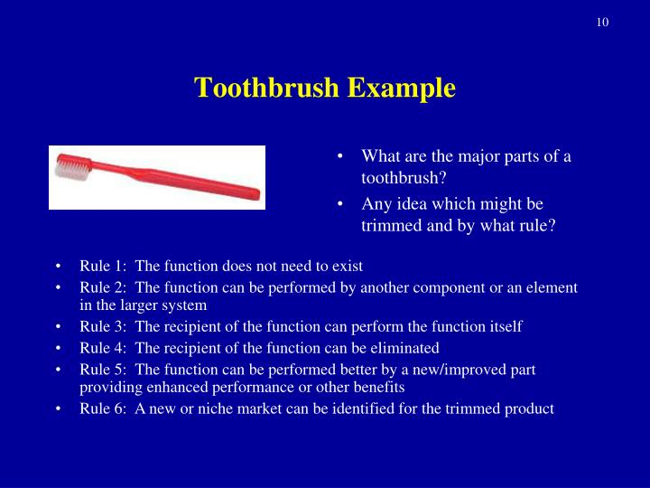 Toothbrush Example