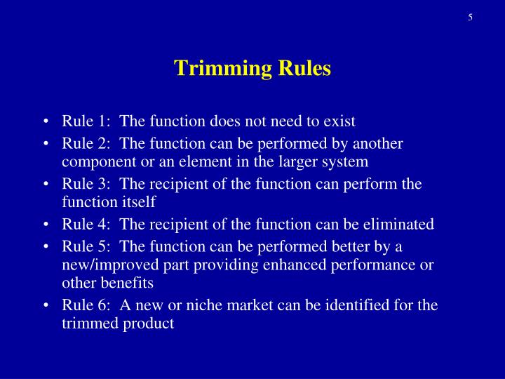 Trimming Rules
