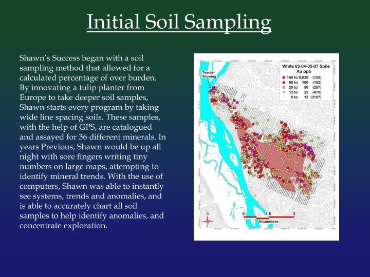Initial Soil Sampling