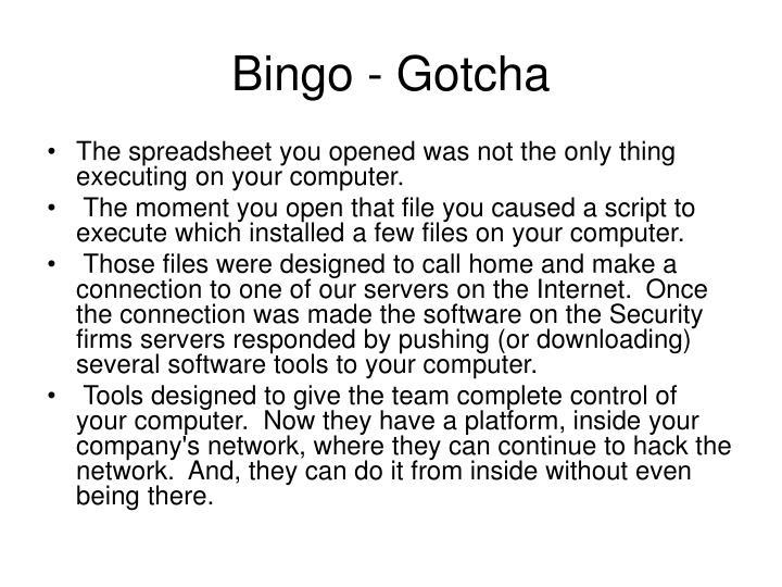 Bingo - Gotcha