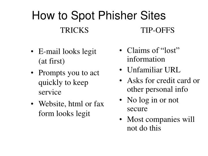 How to Spot Phisher Sites