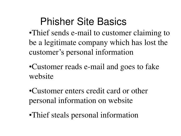 Phisher Site Basics