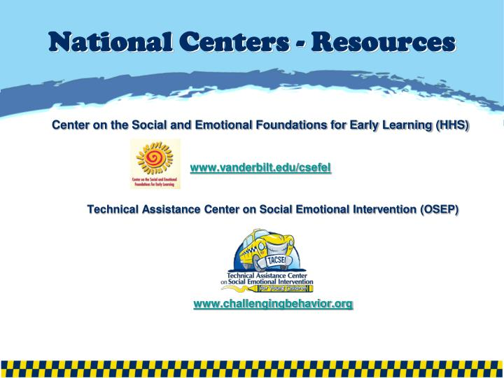 National Centers - Resources