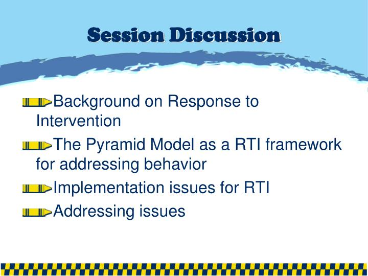 Session discussion