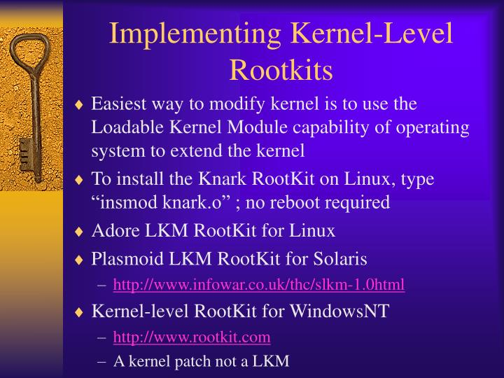 Implementing Kernel-Level Rootkits
