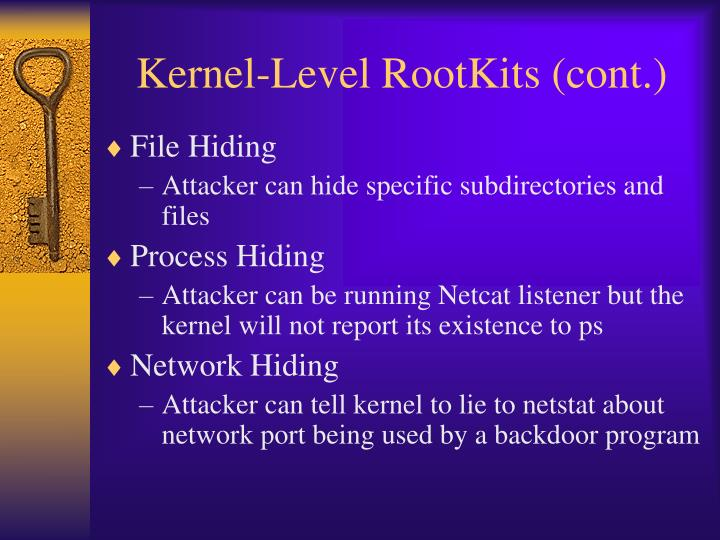 Kernel-Level RootKits (cont.)