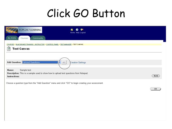 Click GO Button
