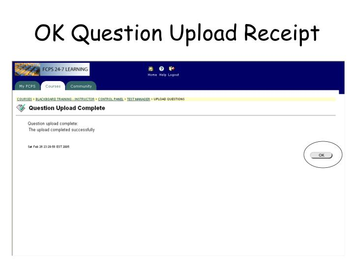 OK Question Upload Receipt