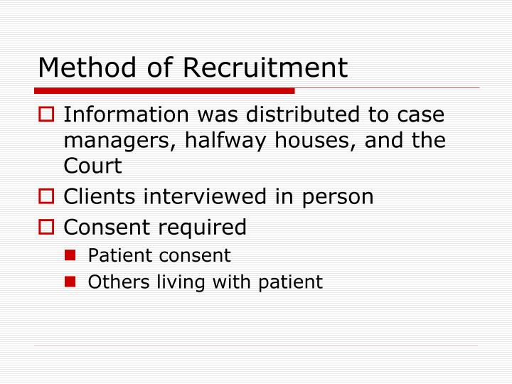 Method of Recruitment