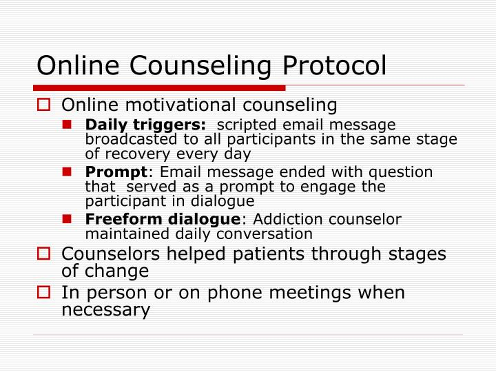 Online Counseling Protocol