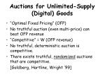 auctions for unlimited supply digital goods