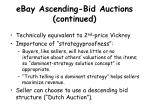 ebay ascending bid auctions continued