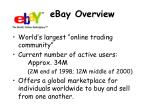 ebay overview