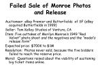 failed sale of monroe photos and release