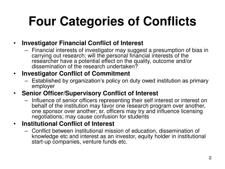 conflicts of interest between auditors and clients Independence and conflicts of interest accountants in public practice should be independent in fact and appearance when providing auditing and other attestation services if you provide attestation or assurance services to clients, a conflict of interest may prevent you from also providing investment advisory services.