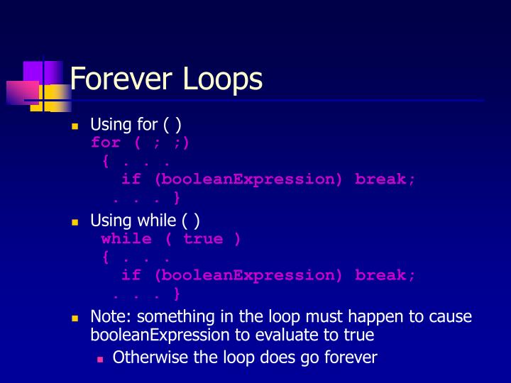 Forever Loops