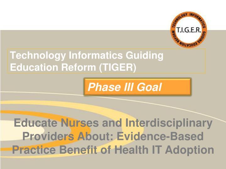 Technology Informatics Guiding Education Reform (TIGER)